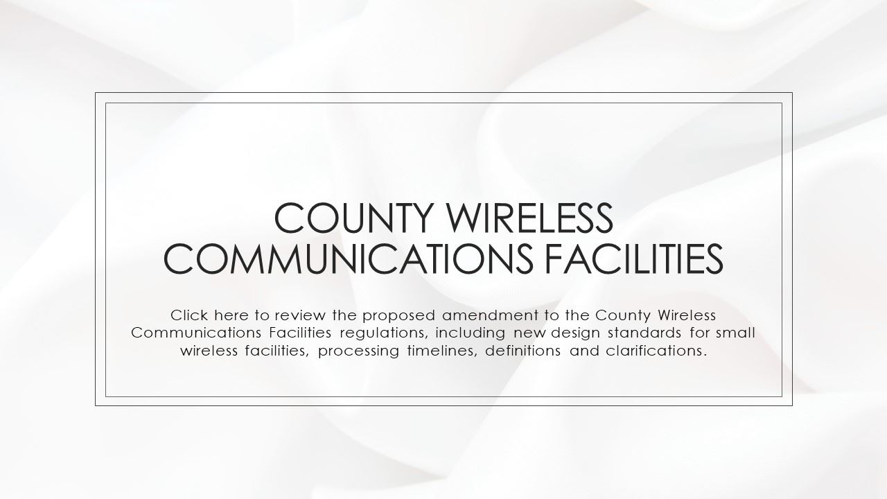 County Wireless Communications Facilities